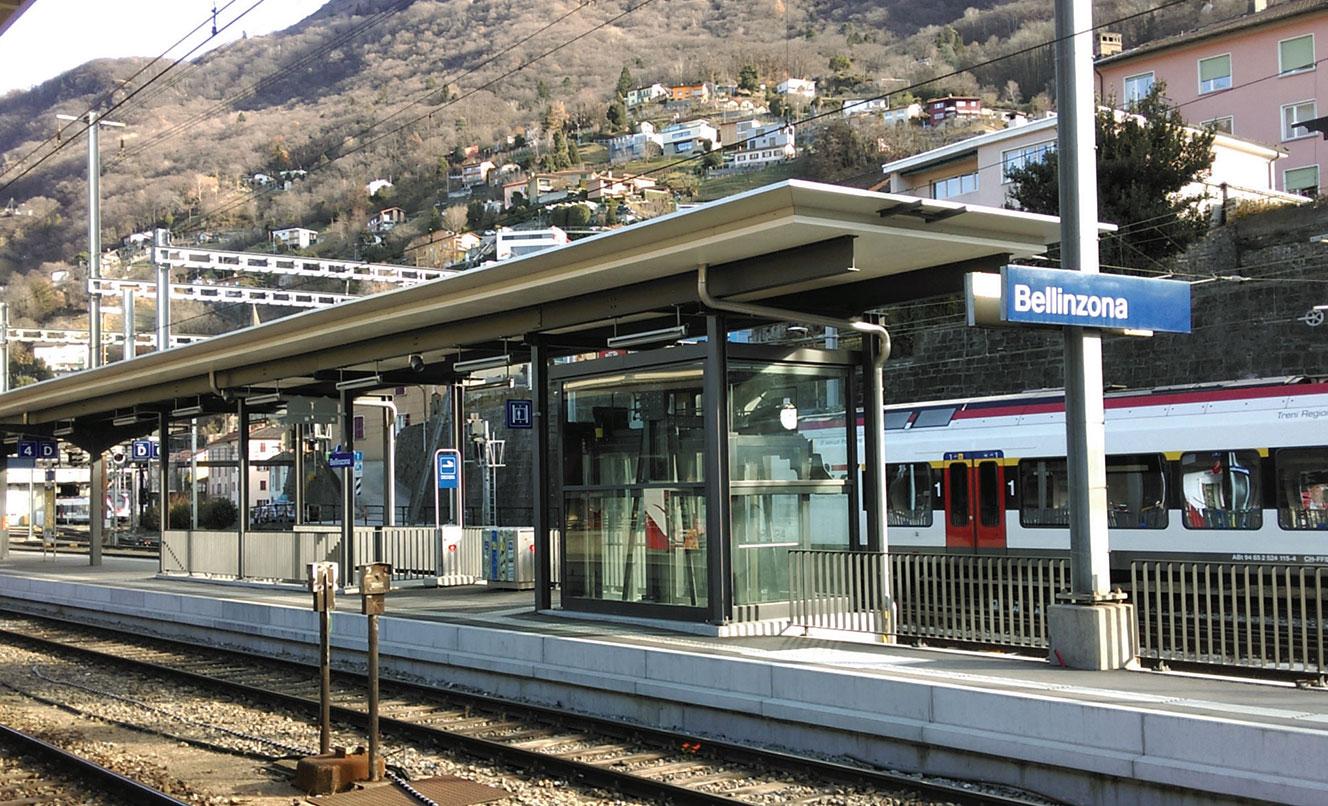 SBB Bahnhof BELLINZONA – SCHWEIZ